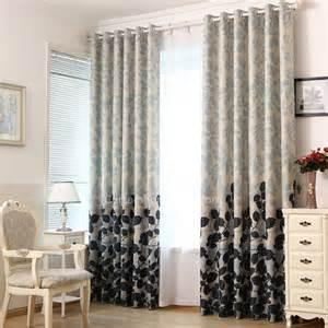 verdunkelungsvorhang schlafzimmer erschwinglich pastoral primitiv polyester blatt schwarz graublau schlafzimmer