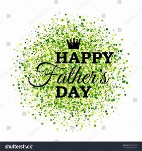 Happy Fathers Day Crown On Green Stock Vector 436600939 ...