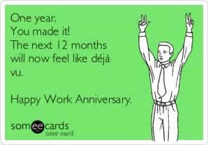 Happy 1 Year Work Anniversary Funny