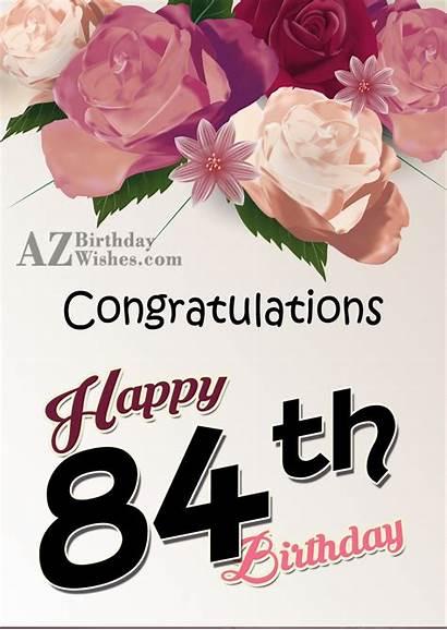 Birthday 84th Wishes Happy Azbirthdaywishes Wishing Very