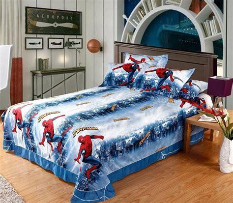 spiderman kids cartoon bedding comforter sets bedroom