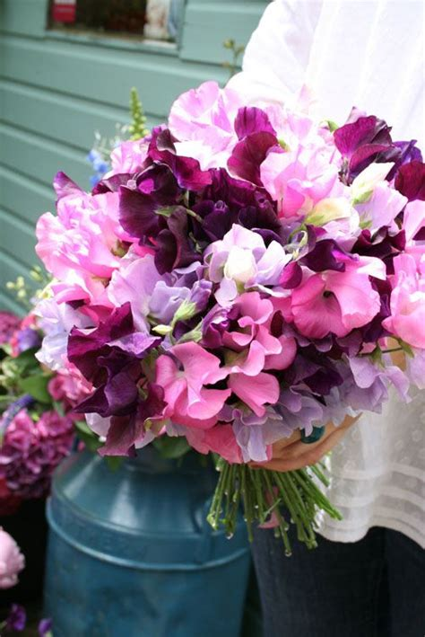 wedding wednesday sweet pea bouquets flirty fleurs