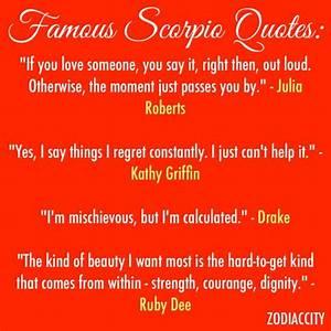 Famous scorpio ... Top Scorpio Quotes