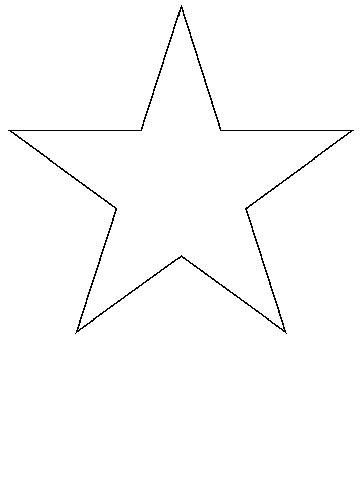 Yıldız Boyama Kalıbı Resimlere Göre Ara Red