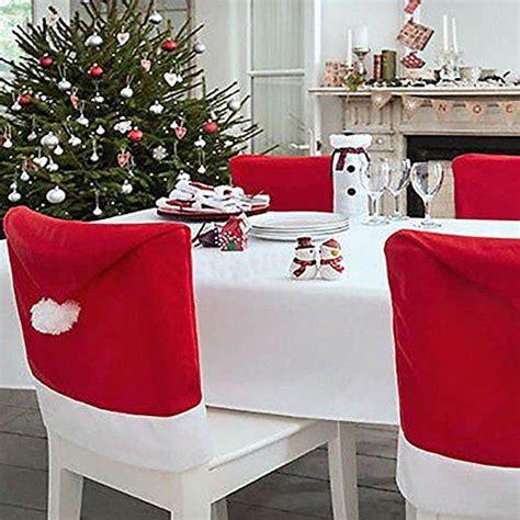 set of 4 santa hat chair covers for christmas dinner decor