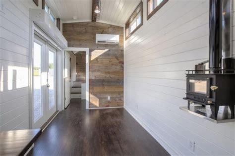 ft tiny house built   disguised shipping container