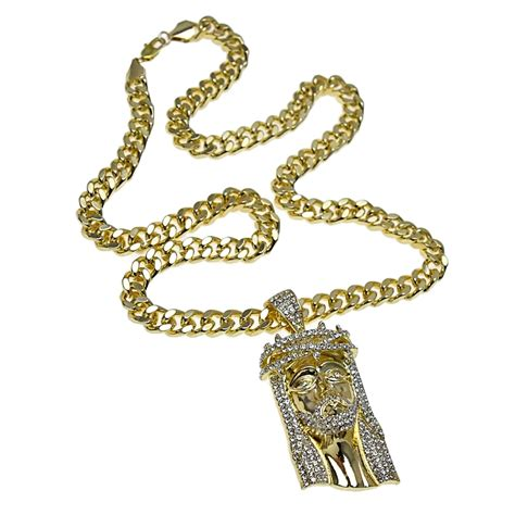 "Jesus Piece Iced-Out Face 30"" Cuban Chain - Hip Hop Chains"