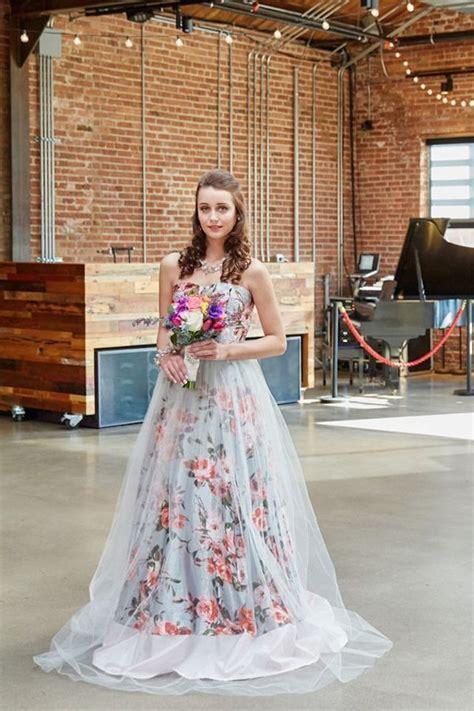 Floral Print Wedding Dresses For Spring 2016 Mywedding