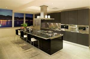 Ilot Bar Cuisine : impressionnant modeles de cuisine avec ilot central et cuisine avec ilot bar lulot de cuisson ~ Preciouscoupons.com Idées de Décoration