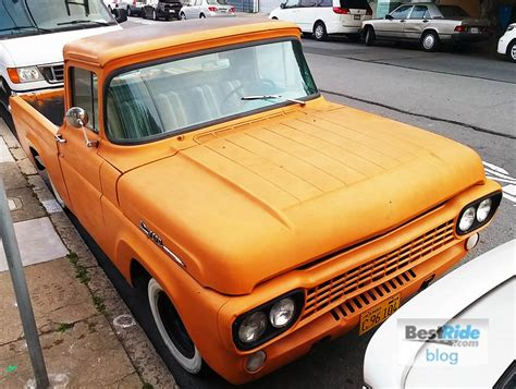 matte orange streetside 1958 ford f 100 matte orange modernity