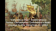 "Columbus Day for honoring ""Christopher Columbus"" who ..."