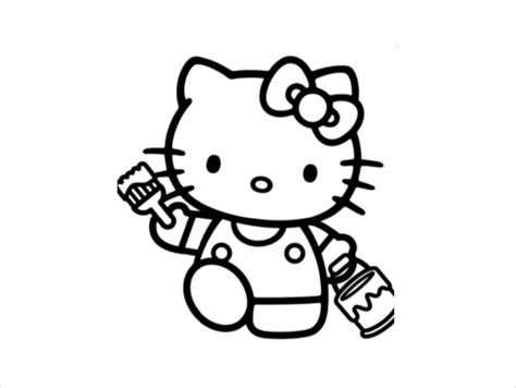 Hello Kitty Coloring Page 10+ Free PSD AI Vector EPS