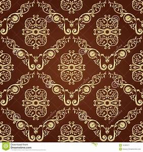 Seamless Vintage Decor Wallpaper Background Stock Vector ...