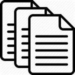 Icon Multiple Icons Text Documents Folder Paper