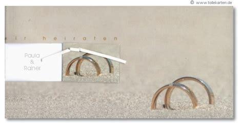 eheringe im sand einladungskarten