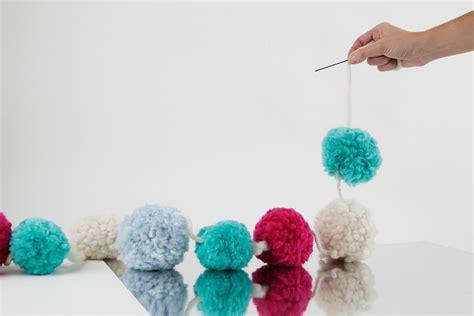pom pom garland wool   gang blog
