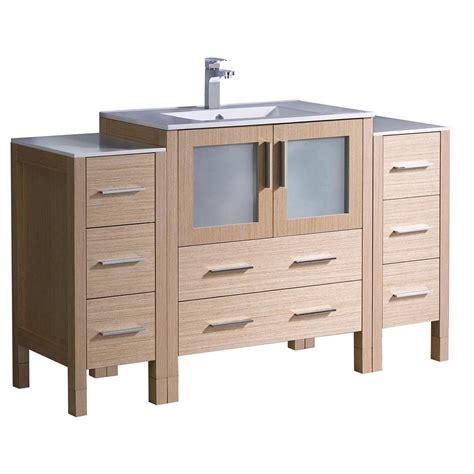drawers kitchen sink glacier bay melborn 24 5 in w bath vanity in chestnut 6960