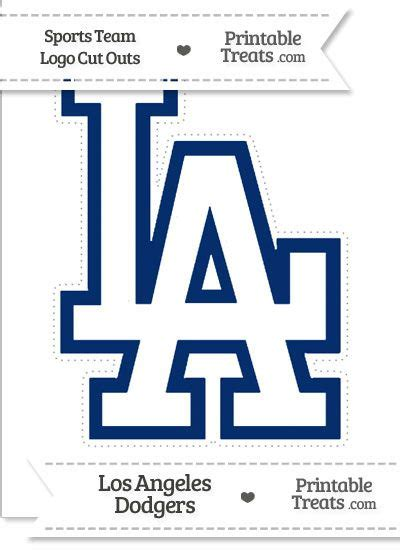 large los angeles dodgers logo cut