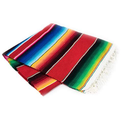 Mexikanische Decke  Serape Rot Superskull
