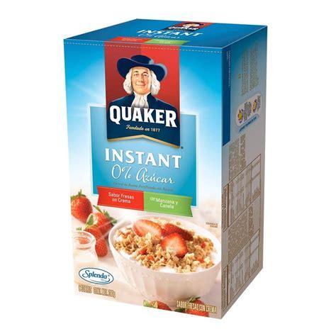 instant cereal cereal quaker instant fresas con crema y manzana y