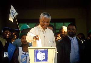 Nelson Mandela casts his vote in South Africa's first ...