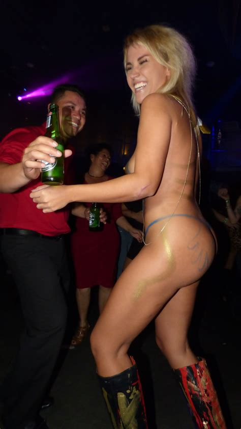She Is Enjoying The Party Very Much Nudeshots