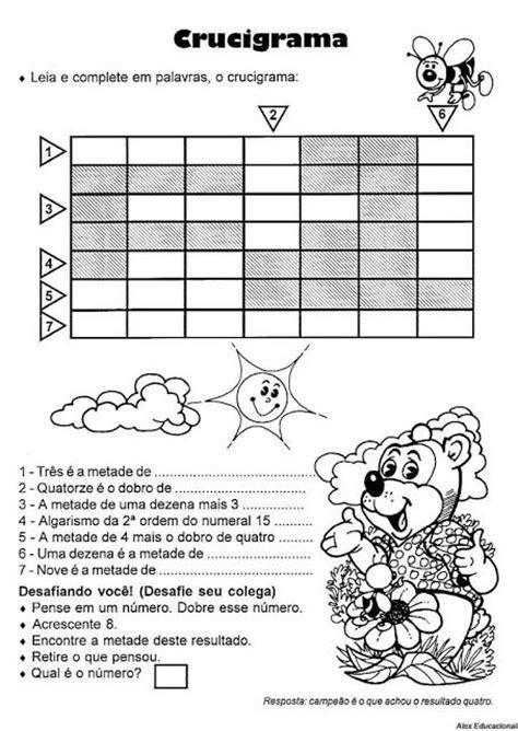 rosearts atividades para imprimir matem 225 tica do 2 186 ao 5 186 ano para imprimir atividades
