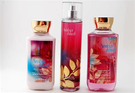 Bath And Body Works New Amber Blush Collection