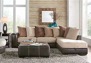 Gregory beige 3 pc sectional living room living room sets for Sectional sofa at rooms to go