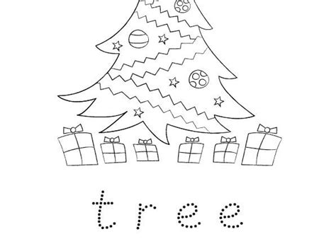 traceable christmas tree free colouring and word trace activity for early years by mrsmactivity teaching