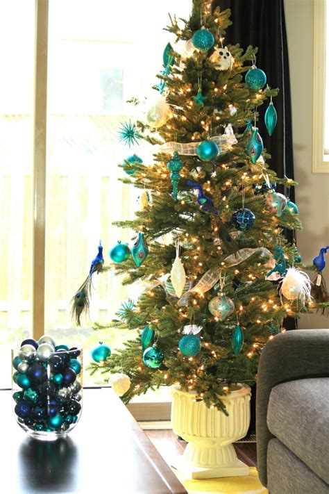arctic teal christmas decoration ideas frugal mom eh