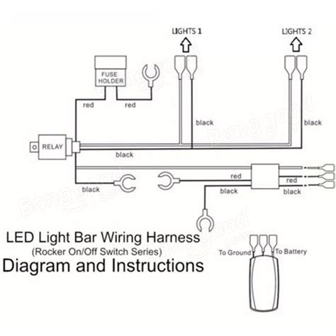 Led Light Rocker Switch Off Wiring Harness With Relay