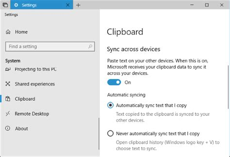 using windows 10 s new clipboard history and cloud sync