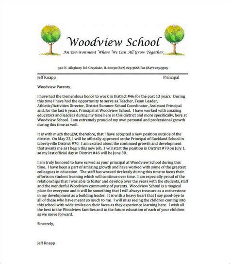 14 school resignation letter samples amp templates pdf word 787 | Sample Teacher Resignation Letter to Families1