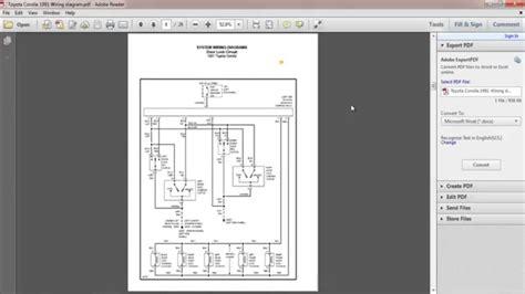 Toyota Corolla Wiring Diagram Youtube