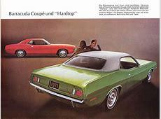 1971 Plymouth Barracuda brochure