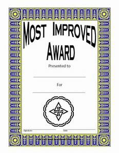 Attendance Template For Teachers Most Improved Award Two Certificate Templates Teachers