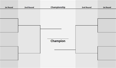 8 Teams Two-sided Bracket