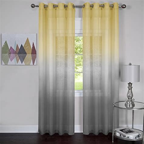 rainbows and set of 2 ombre sheer window curtain