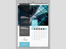Wall Calendar 2018 by bourjart GraphicRiver