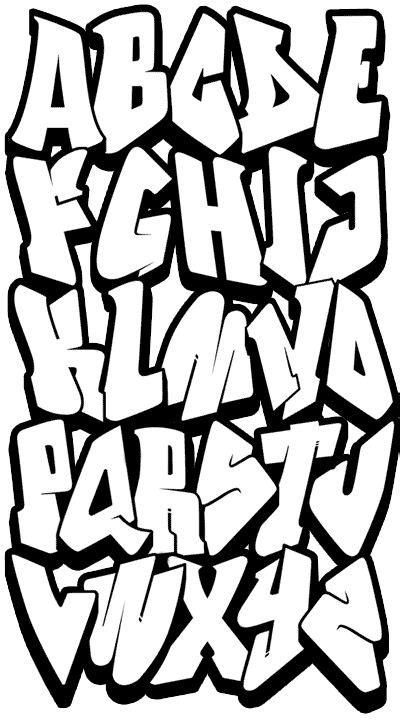 cool graffiti alphabet z easy pinteres