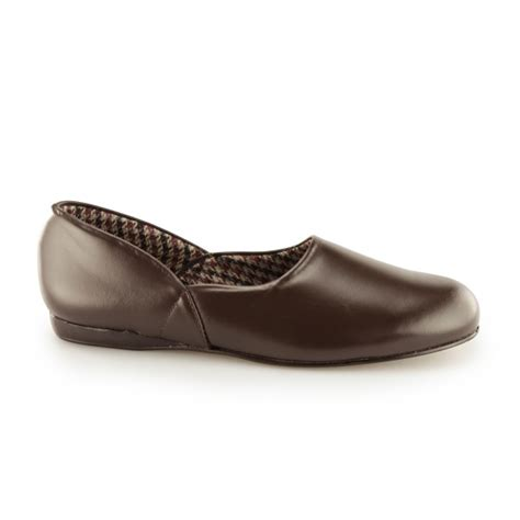 Sleeper For Mens by Sleepers Abraham Mens Leather Slippers Brown House