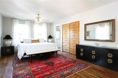 mid century eclectic midcentury bedroom austin
