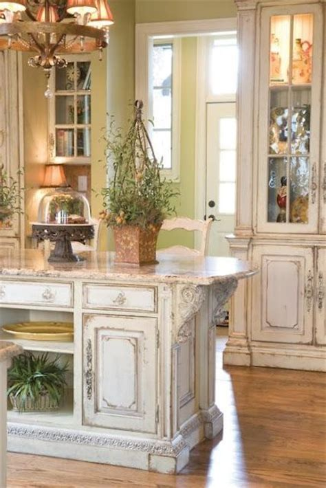 shabby chic kitchen furniture picture of shabby chic whitewashed kitchen island and cabinets