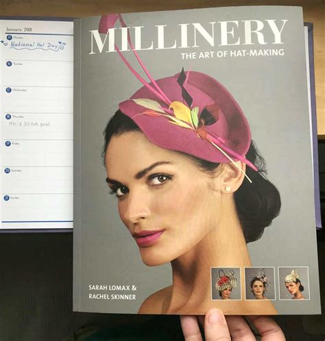 book review millinery  art  hat making   stitch