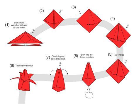 membuat origami bunga tulip dimensi membuat