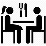 Icon Dinner Dining Date Restaurant Eating Transparent