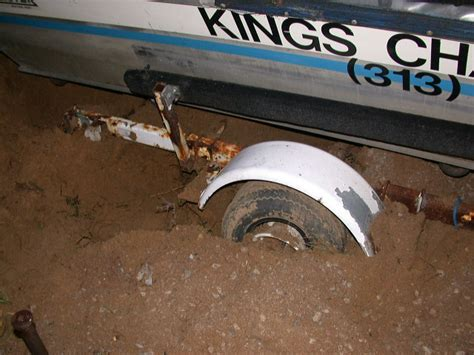 Boat Trailer Tire Stuck by Excerps From Capt