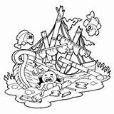 Sunken Ship Coloring Shipwreck Clipart Pirate Pages Drawing Illustration Surfnetkids Royalty Visekart Getdrawings sketch template