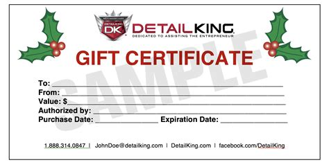 Automotive Gift Certificate Template Free by Detail King Special Offers And Promotions Auto Detailing